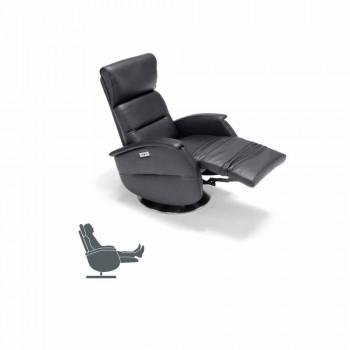 Poltrona de descanso giratória motorizada em tecido Gemma / em couro / ecológica