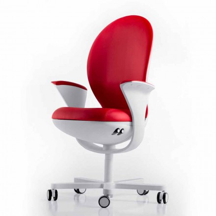 Cadeira executiva em tecido / pele Bea by Luxy