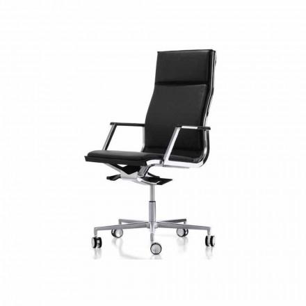 Cadeira de escritório ergonómica Nulite by Luxy, com braços
