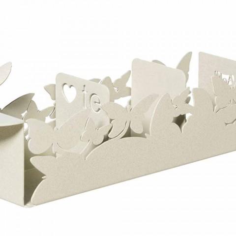 O suporte moderno para saquetas em ferro branco, bege ou marfim fabricado na Itália - Leiden