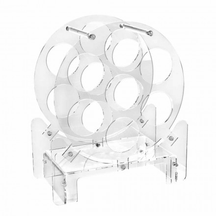 Porta Garrafa Design em Plexiglass Transparente ou Madeira - Vinello