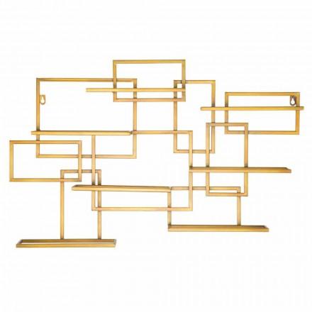 Porta Garrafa Design Horizontal em Ferro - Berti