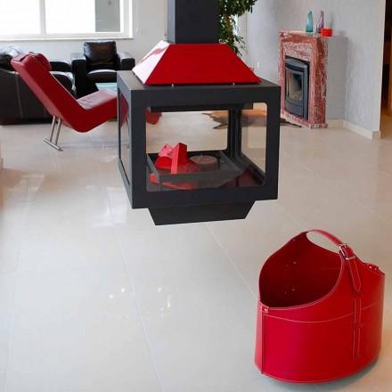 Porta-toras de couro com rodas Fabia, fabricadas na Itália