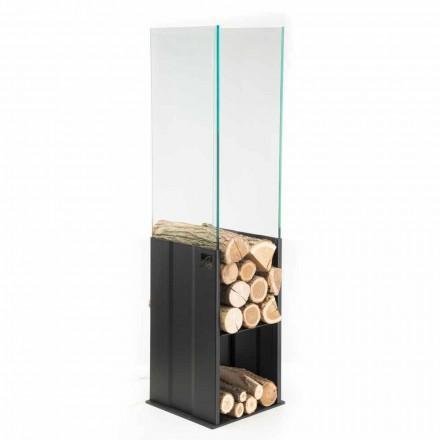 Suporte de madeira interior de design moderno por Caf Design PLV, feito de aço
