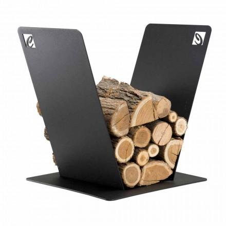 Porta-máquinas para interior em madeira, PVV em aço, fabricado em Itália