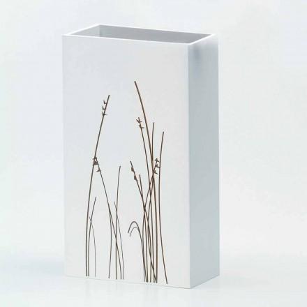 Suporte de guarda-chuva branco em madeira decorado moderno Design retangular - Filigrana