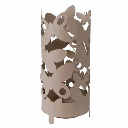 Porta guarda-chuva de design com borboletas de ferro fabricadas na Itália - Maura