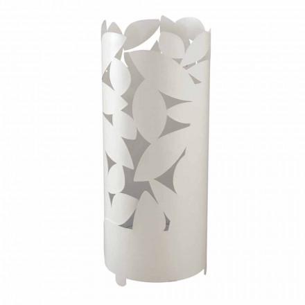 Stand de guarda-chuva de design com silhuetas de folhas de ferro fabricadas na Itália - Piumotto
