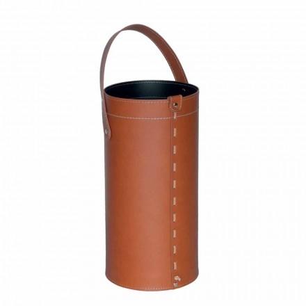 Stand de guarda-chuva de design em couro Regen regenerado, feito na Itália