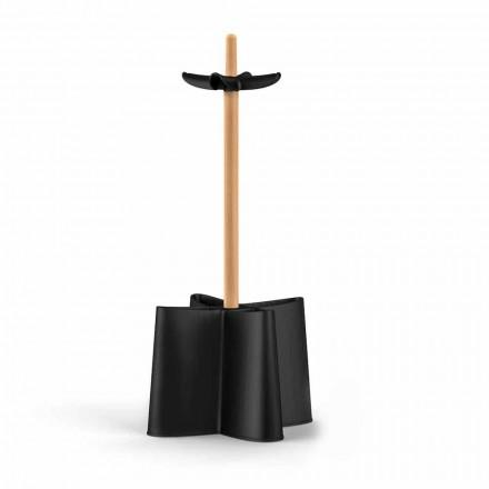 Guarda-chuva Nurri, feito de madeira de faia natural e polipropileno
