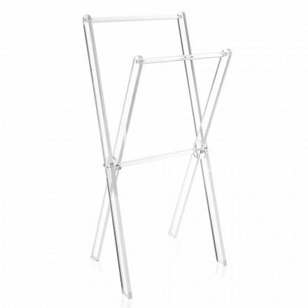 Toalheiros Design em Plexiglass Transparente ou Madeira - Stendio