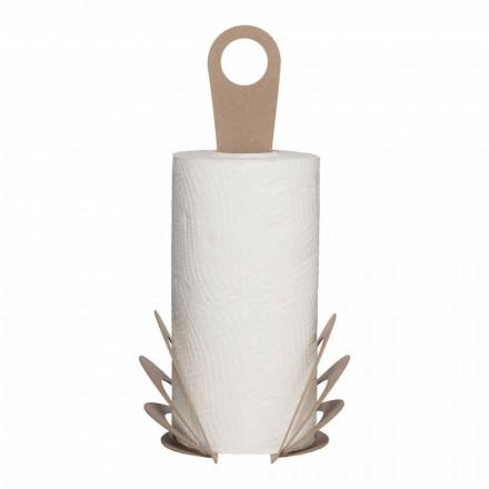 Suporte de rolo de toalha de cozinha feito à mão em ferro, fabricado na Itália - Futti