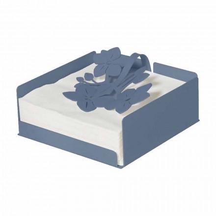 Porta-guardanapos floral moderno em ferro precioso fabricado na Itália - Marken