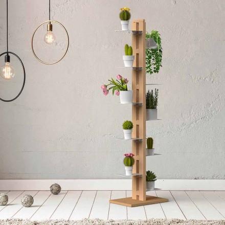 Porta-plantas vertical de design moderno Zia Flora