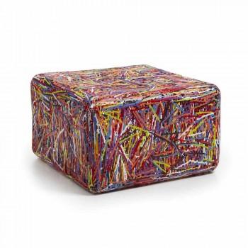 Design pouf em plástico termoplástico multi-colorido ou branco Grazia