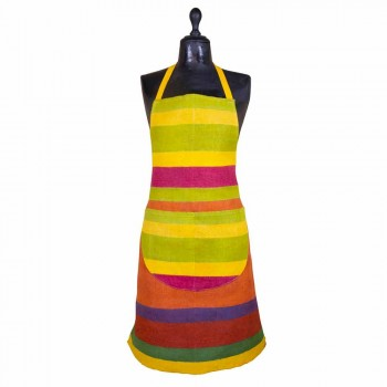 Avental artesanal de cânhamo pintado à mão precioso fabricado na Itália - Marcas
