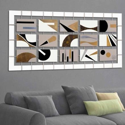 Pintura abstrata Craig, com 15 painéis, design moderno