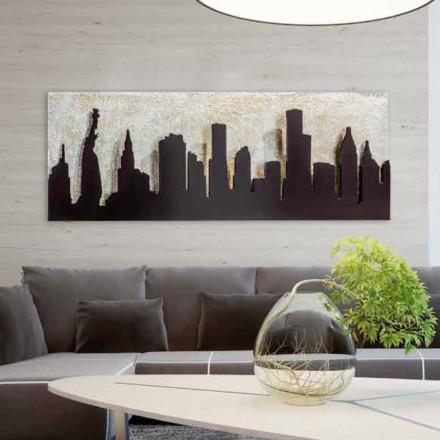 Pintura em relevo sobre tela Donald, reprodução de Manhattan