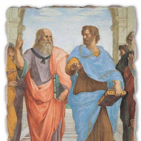 """Raffaello Sanzio """"Escola de Atenas"""" parte. Platão e Artistotele"""