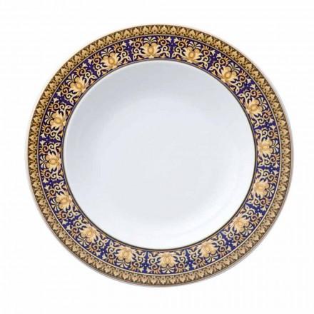 Rosenthal Versace Medusa Azul design moderno porcelana placa profunda