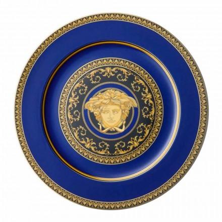 Rosenthal Versace Medusa Azul placa de placeholder de porcelana moderna