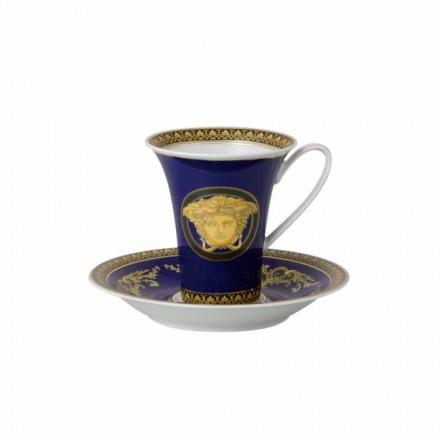 Rosenthal Versace Medusa Azul moderna porcelana alta xícara de café