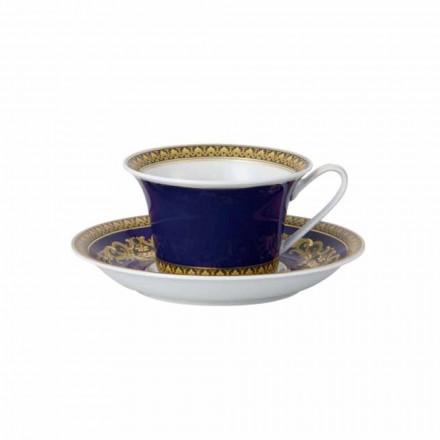 Rosenthal Versace Medusa Azul moderno porcelana chá caneca, design de luxo