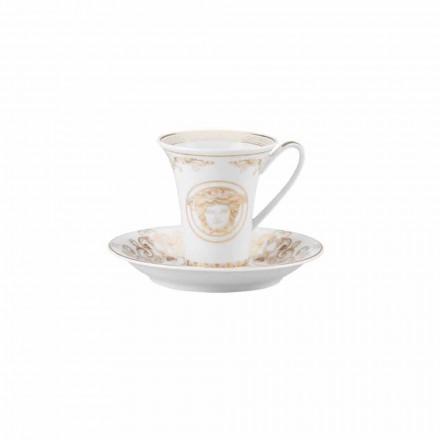 Rosenthal Versace Medusa Gala xícara de café de porcelana, design moderno