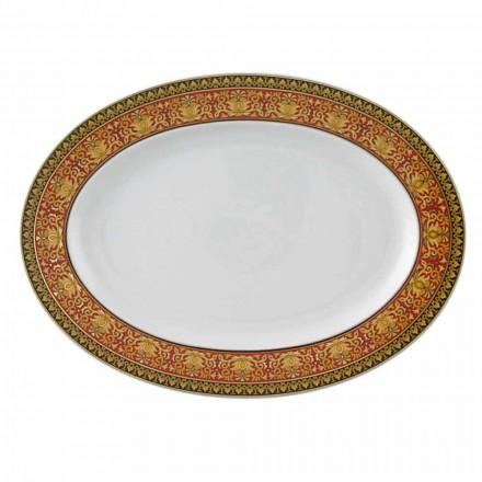 Placa oval de porcelana Rosenthal Versace Medusa Rosso, design de luxo