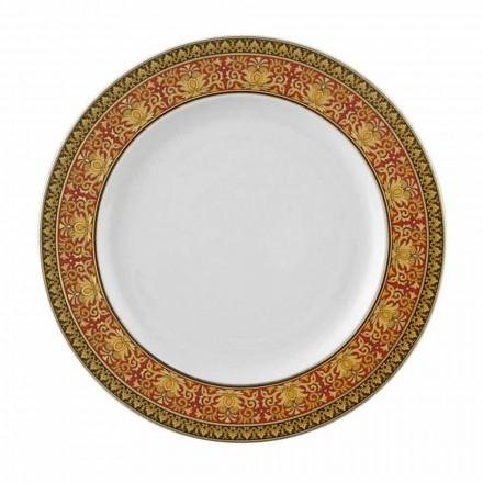 Prato de porcelana Rosenthal Versace Medusa Rosso, 22 cm
