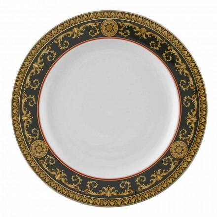 Prato de porcelana Rosenthal Versace Medusa Rosso, 27 cm
