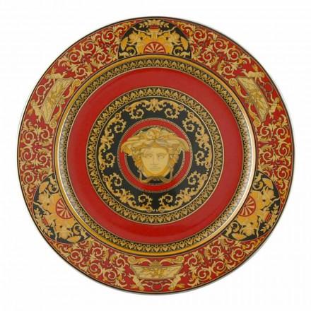 Rosenthal Versace placa de porcelana Medusa Rosso, 30 cm