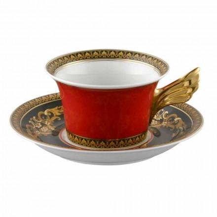 Rosenthal Versace Medusa Rosso design moderno porcelana caneca de chá