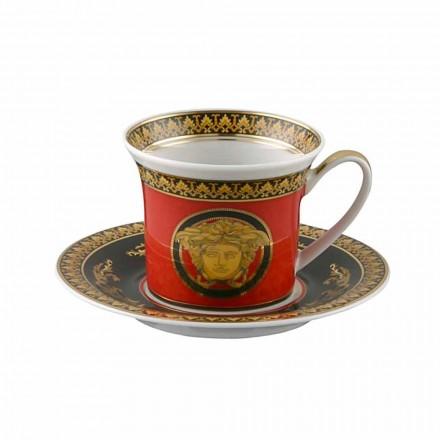 Rosenthal Versace Medusa Rosso porcelana Espresso cup, design de luxo