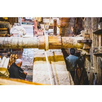 Peça única de arte italiana de corredor de cânhamo pintada à mão - Marcas
