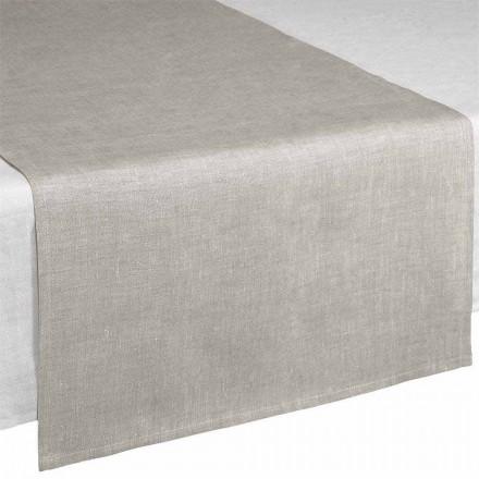 Caminho de mesa em linho natural 50x150 cm Fabricado na Itália - Blessy