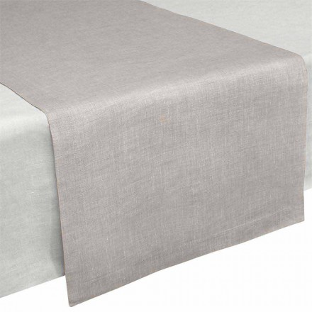 Caminho de mesa em linho natural puro 50x150 cm Fabricado na Itália - papoula