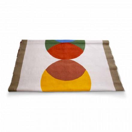 Toalha de mesa de cânhamo corredor de artesanato italiano peça única pintada à mão