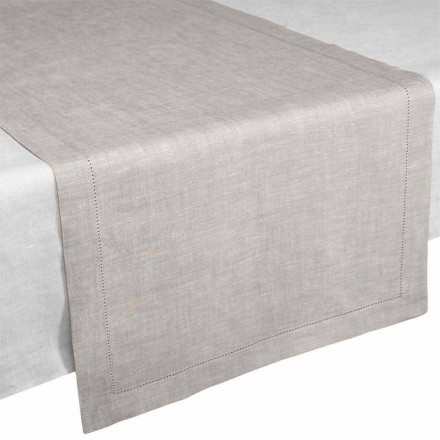 Corredor de mesa em Pure Linen Natural Color Made in Italy - Chiana
