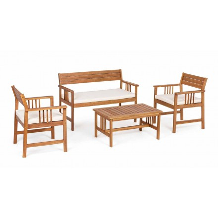 Lounge 4 Complements in Garden Wood Design em Acacia Wood- Roxen