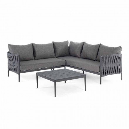 Lounge de design de jardim de canto, Homemotion - Lucio Almofadas removíveis