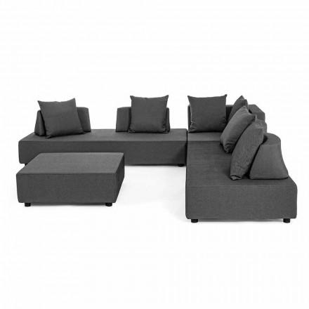 Lounge de canto externo de design moderno em tecido Homemotion - Benito