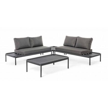 Lounge ao ar livre moderno em alumínio e antracite Homemotion - Palmira