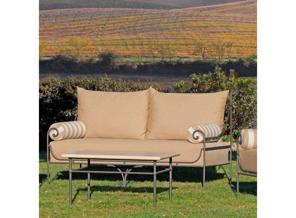 Artisan Garden Lounge com estrutura de ferro fabricada na Itália - Lisotto