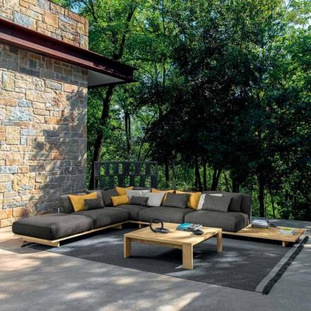 Garden Lounge com Pufe e Mesa de Centro em Madeira de Alta Qualidade - Argo by Talenti