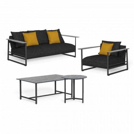 Luxury Garden Lounge em Alumínio, Grés e Tecido - Riviera by Talenti
