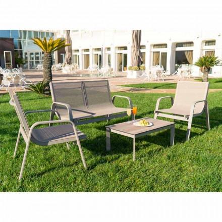 Garden Lounge em Alumínio, Lona e Precioso HPL Fabricado na Itália - Atollo
