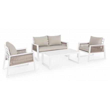 Lounge de jardim em alumínio branco ou preto Design - chuveiro de chuva