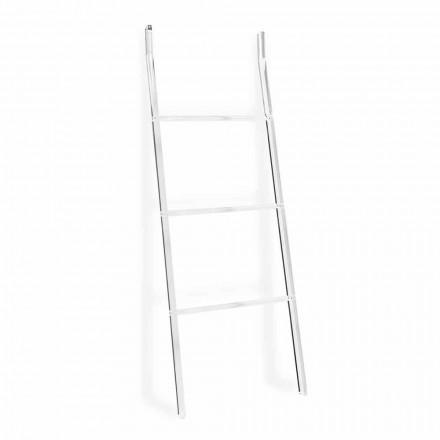 Porta-toalha Escada em Plexiglass Transparente Design 2 Alturas - Secadoras