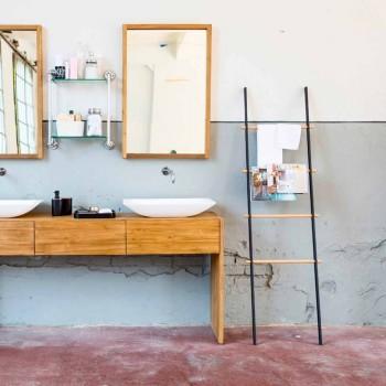 Revista de design de banheiro Denno / toalheiro